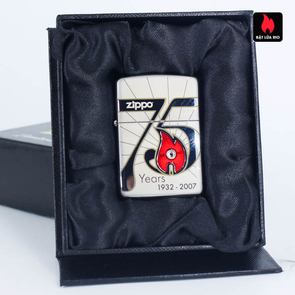 Zippo 2007 – 75th Anniversary Edition – Korea – Limited KOR 1 Of 3500 2