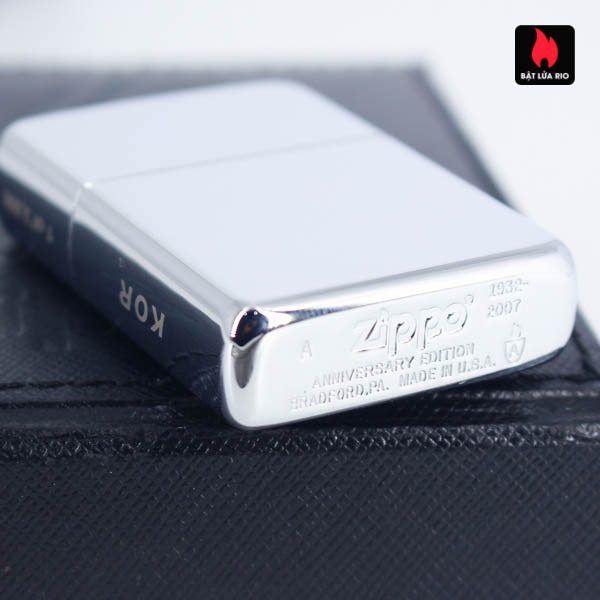 Zippo 2007 – 75th Anniversary Edition – Korea – Limited KOR 1 Of 3500 4