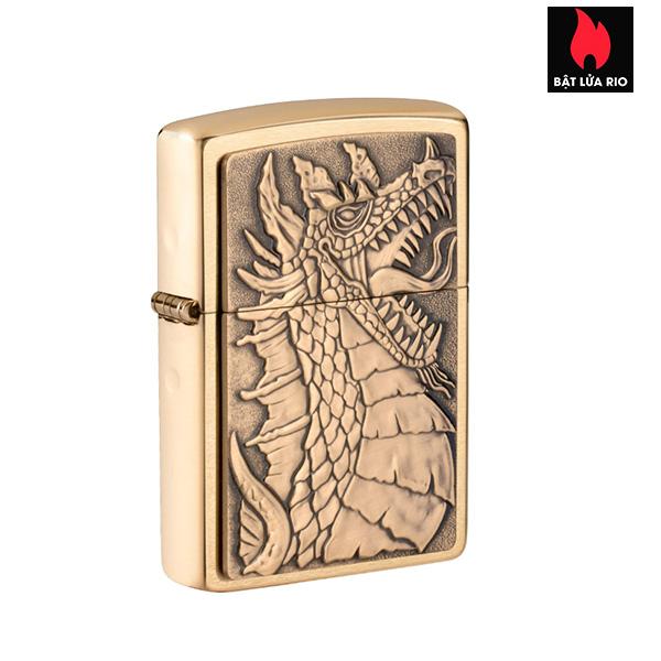 Zippo 49297 - Zippo Dragon Emblem Brushed Brass