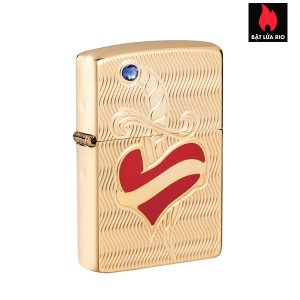 Zippo 49303 - Zippo Heart and Sword Armor High Polish Brass