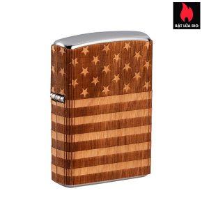 Zippo 49332 - Zippo WOODCHUCK USA American Flag Wrap
