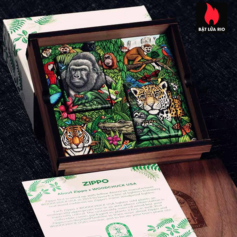 Zippo 49347 - Zippo Mysteries Of The Forest 25th Anniversary Collectible Set 38