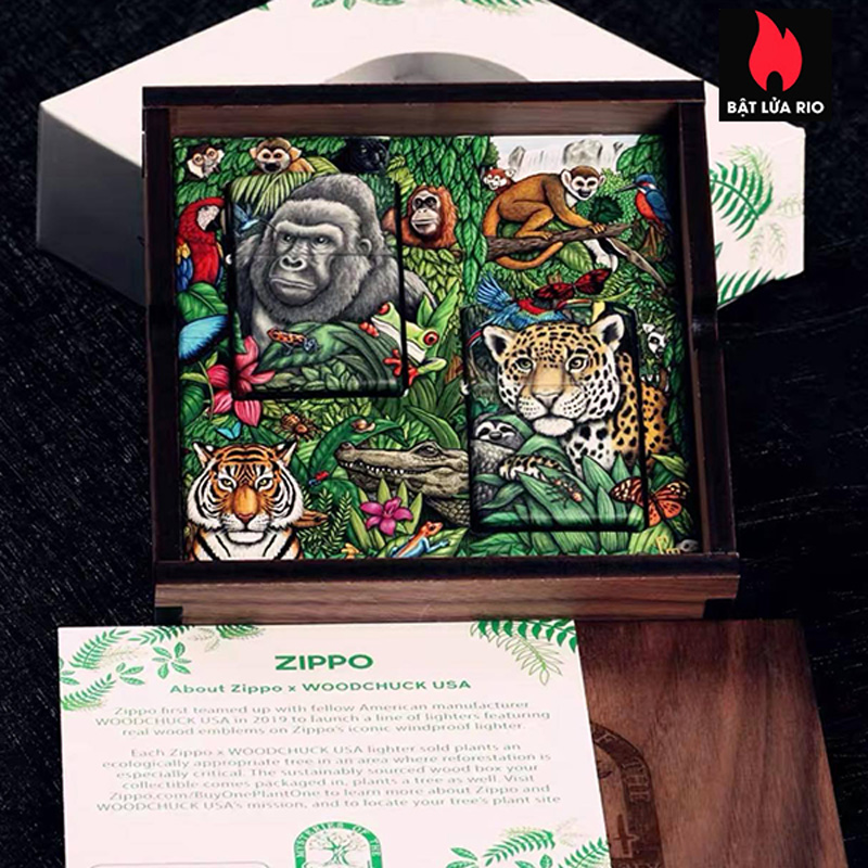 Zippo 49347 - Zippo Mysteries Of The Forest 25th Anniversary Collectible Set 39