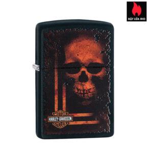 Zippo 29654 - Zippo Harley-Davidson® Skull Black Matte