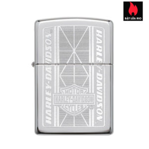 Zippo 29655 - Zippo Harley-Davidson® Chrome Geometric Engraved