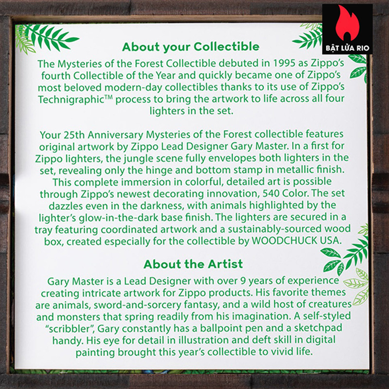 Zippo 49347 - Zippo 25th Anniversary Mysteries Of The Forest Set 12