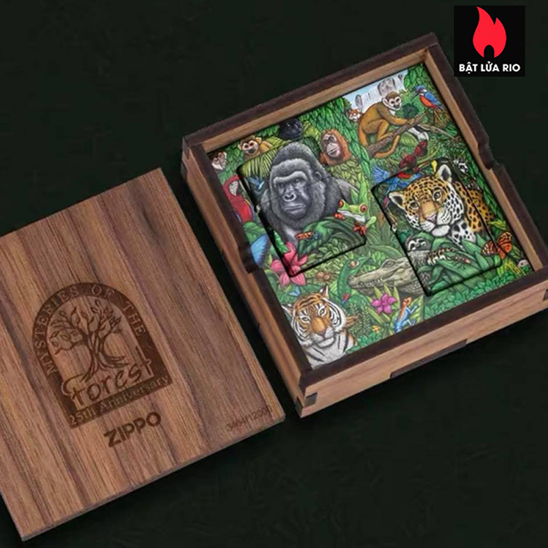 Zippo 49347 - Zippo 25th Anniversary Mysteries Of The Forest Set 21