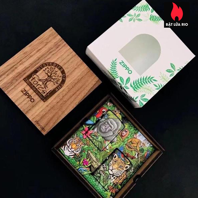 Zippo 49347 - Zippo Mysteries Of The Forest 25th Anniversary Collectible Set 23