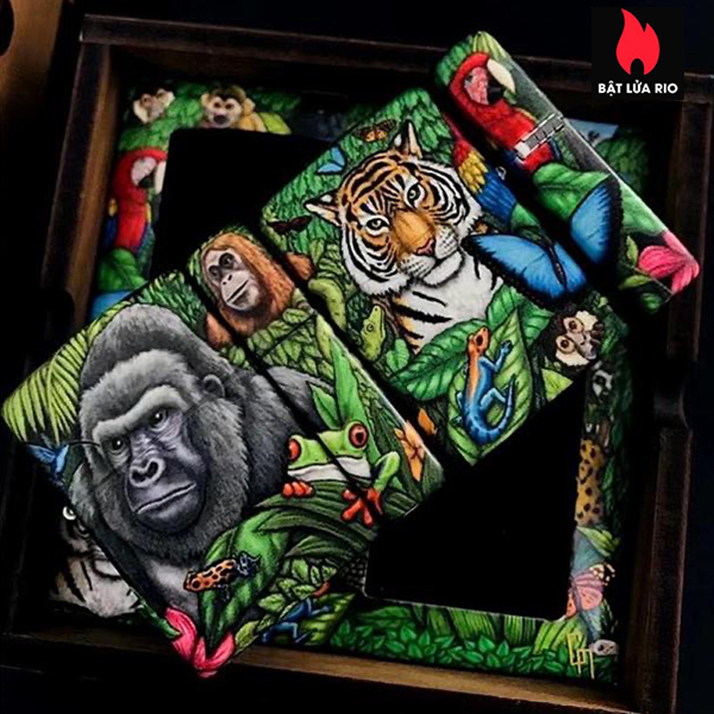 Zippo 49347 - Zippo 25th Anniversary Mysteries Of The Forest Set 34