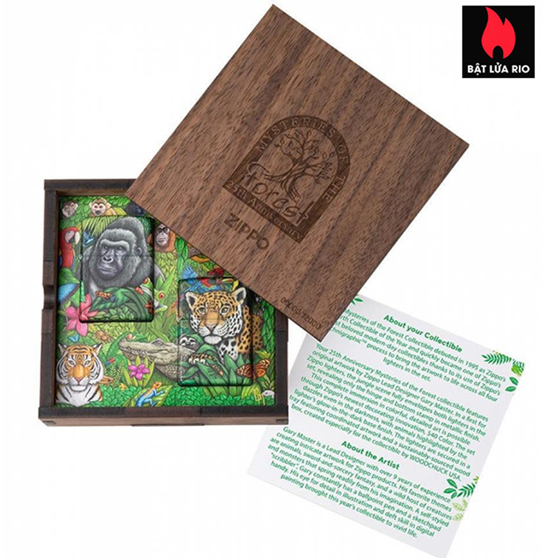 Zippo 49347 - Zippo Mysteries Of The Forest 25th Anniversary Collectible Set 43