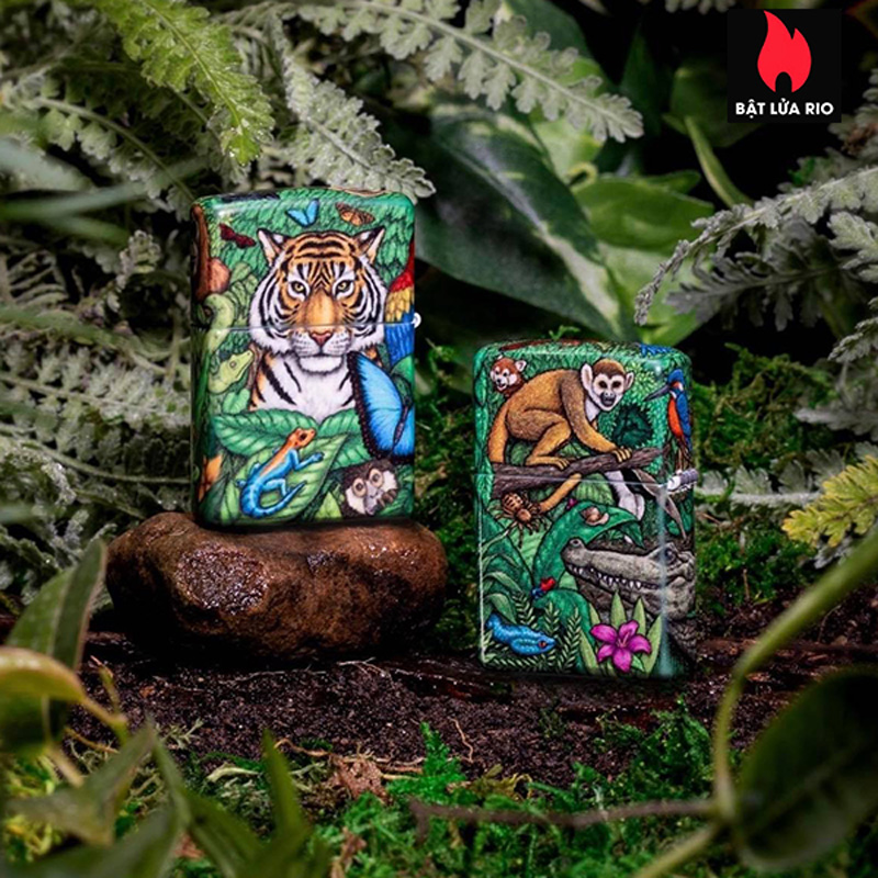 Zippo 49347 - Zippo Mysteries Of The Forest 25th Anniversary Collectible Set 45