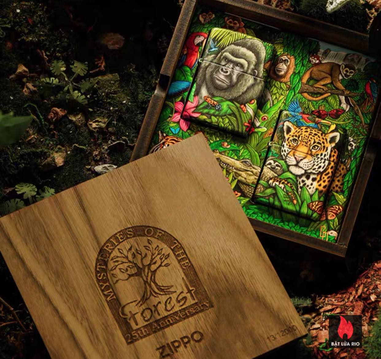 Zippo 49347 - Zippo Mysteries Of The Forest 25th Anniversary Collectible Set 49