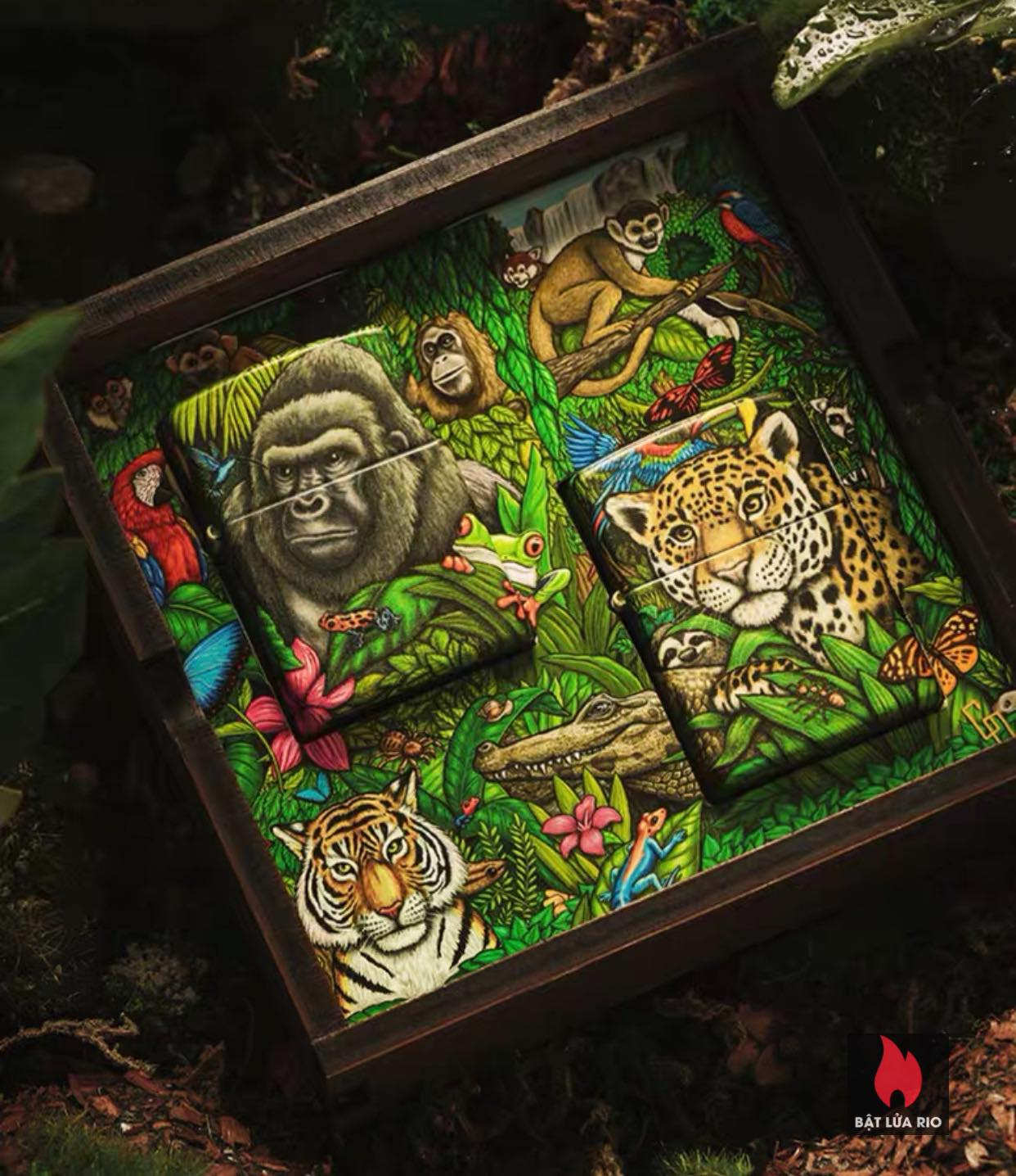 Zippo 49347 - Zippo Mysteries Of The Forest 25th Anniversary Collectible Set 50