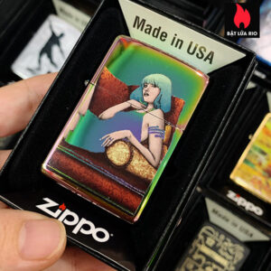 Zippo 151 Woman With Chrome Out Dress Multi Color