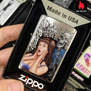 Zippo 200 Scared Brushed Chrome