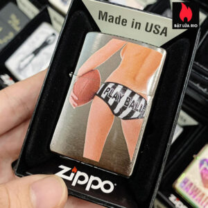 Zippo 200 Sexy Back Play Ball Brushed Chrome