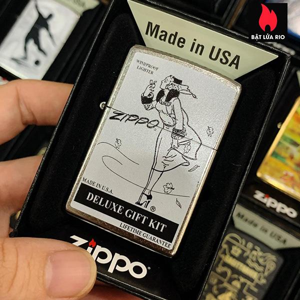 Zippo 207 Windy Deluxe Gift Box Street Chrome