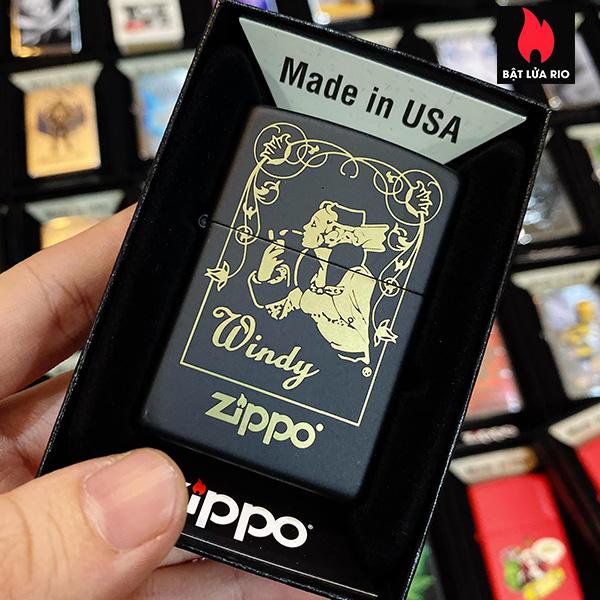 Zippo 218 Windy Window Black Matte