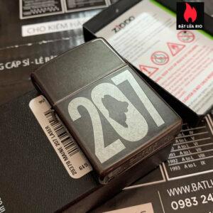 Zippo 28378 Maine 207 Laser Gray Dusk