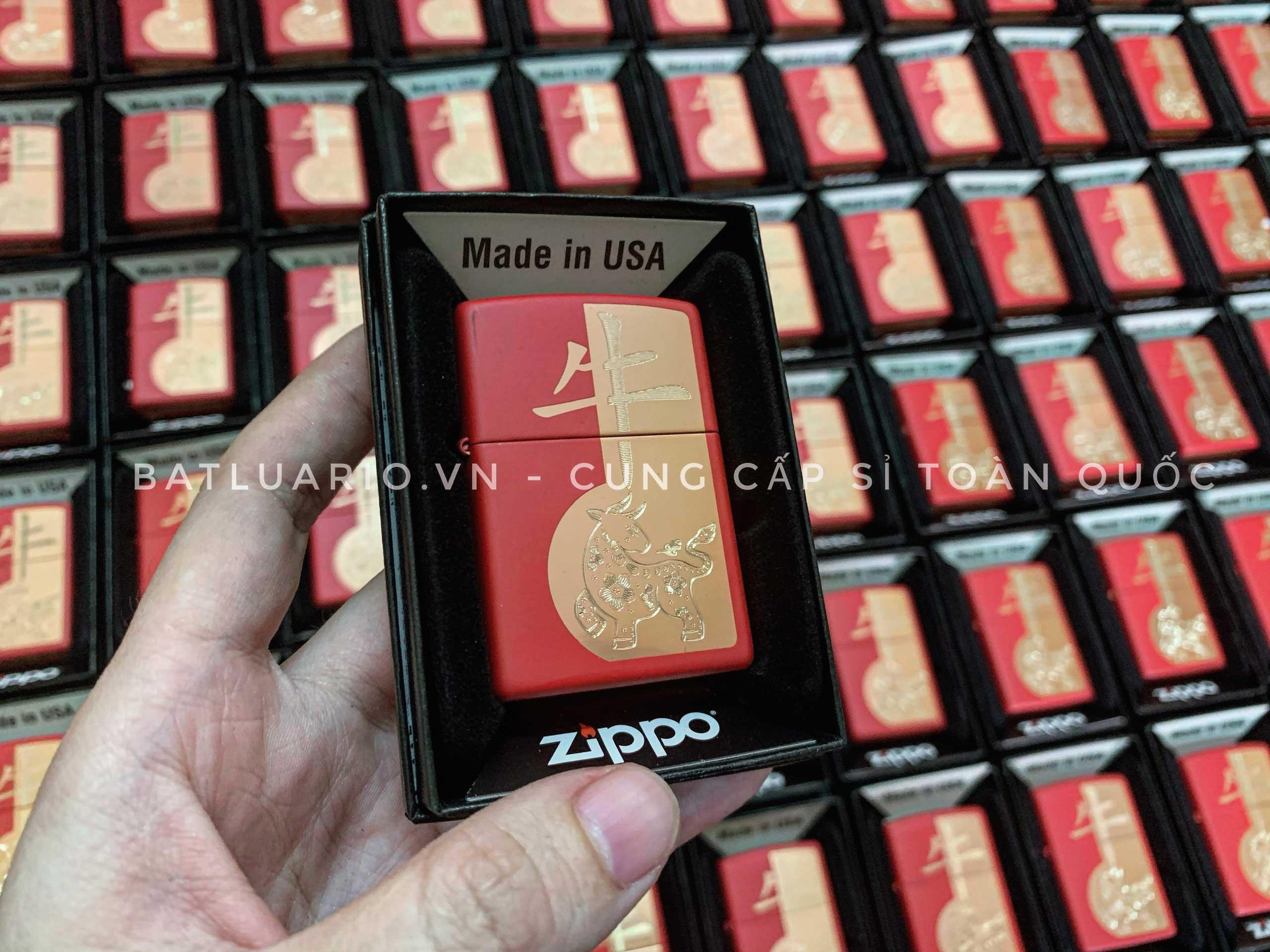 Zippo 49233 - Zippo Year of the Ox Red Matte 23