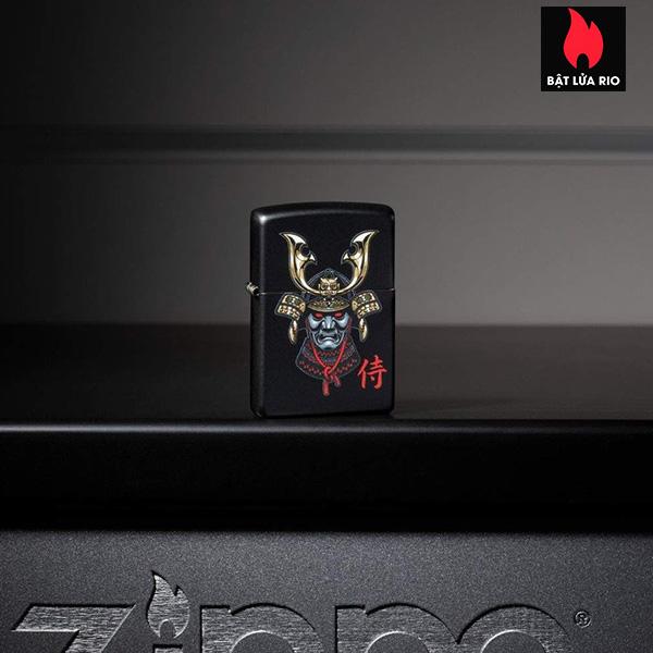 Zippo 49259 - Zippo Samurai Helmet Design Black Matte 1