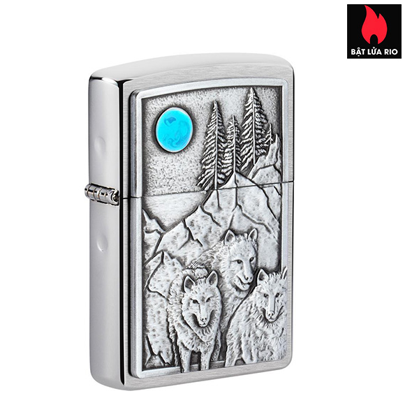 Zippo 49295 - Zippo Wolf Pack and Moon Emblem Design