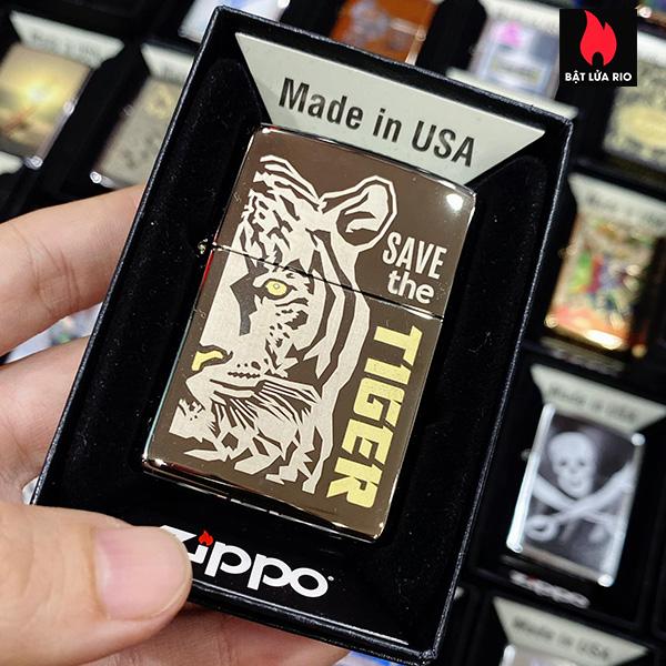 Zippo 150 Save The Tiger Design