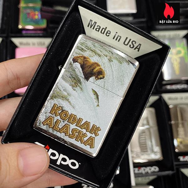 Zippo 200 Bear Kodiak Alaska