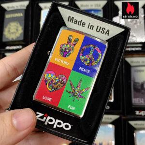 Zippo 200 Hippie Symbols