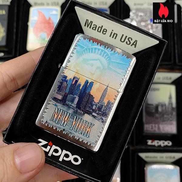 Zippo 200 New York City Brushed Chrome