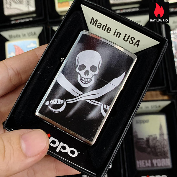 Zippo 200 Pirate Flag Jolly Rodger
