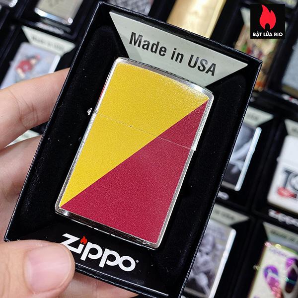 Zippo 200 Red Yellow Stripe Design
