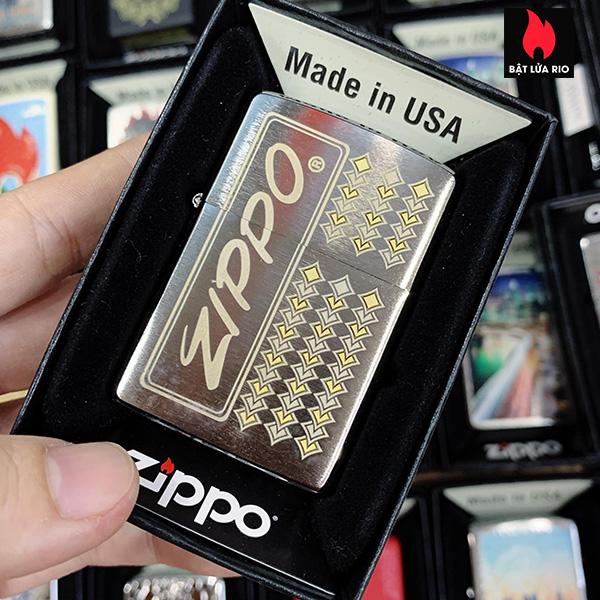 Zippo 200 Zippo Brushed Chrome Design