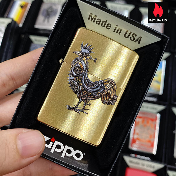 Zippo 204B Steampunk Rooster