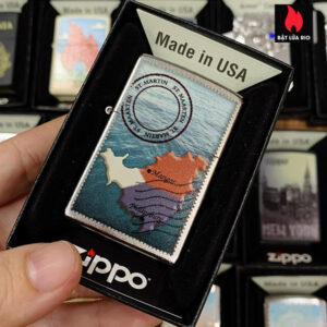 Zippo 205 ST Maarten Martin Stamp