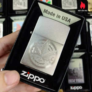 Zippo 205 Weed Compass Design