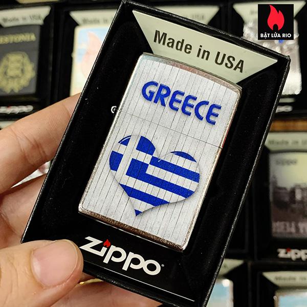 Zippo 207 Flag Heart Design