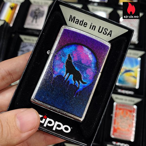 Zippo 207 Wolf Mood Design