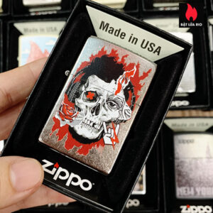 Zippo 207 Zine Culture Skull Design