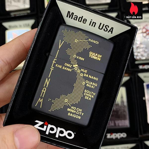 Zippo 218 Vietnam Dot Map