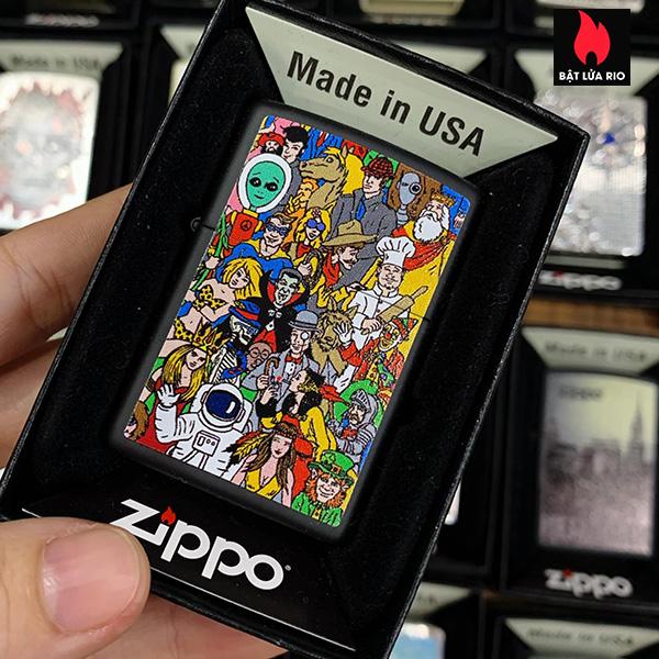 Zippo 218 Where's Windy Design