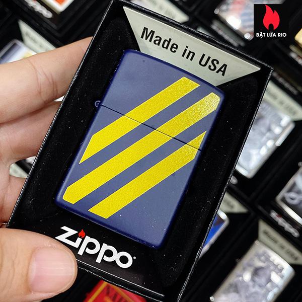Zippo 239 Yellow Stripe Design