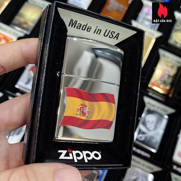 Zippo 250 Flag Of Spain