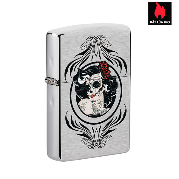 Zippo 49253 - Zippo Day of The Dead Girl Brushed Chrome