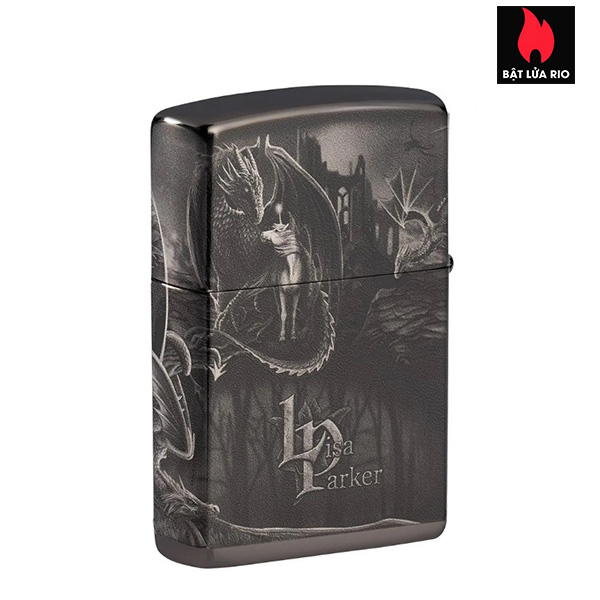 Zippo 49287 - Zippo Lisa Parker Mythological High Polish Black 2