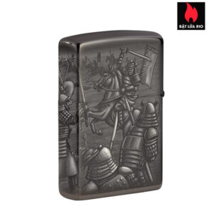 Zippo 49292 - Zippo Knight Fight Design High Polish Black 1