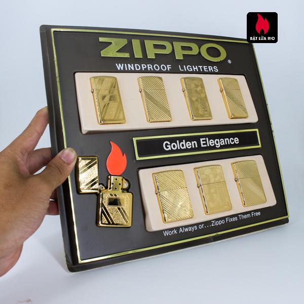 Set Zippo - Zippo La Mã 1993-1994 - Gold Plate - Golden Elegance 1