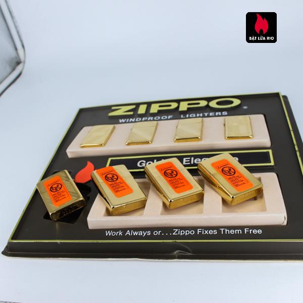 Set Zippo - Zippo La Mã 1993-1994 - Gold Plate - Golden Elegance 10