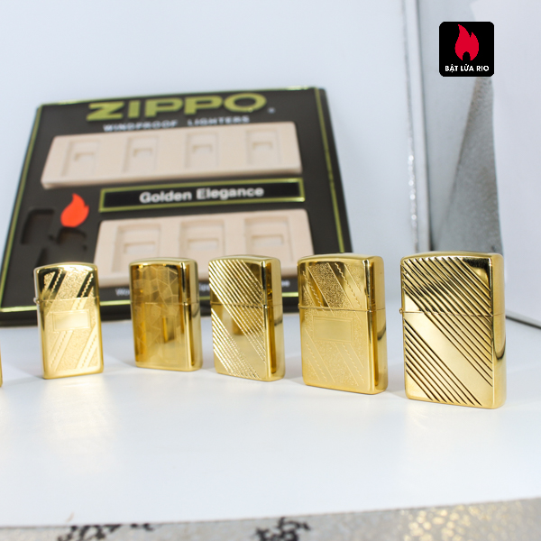 Set Zippo - Zippo La Mã 1993-1994 - Gold Plate - Golden Elegance 16