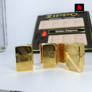 Set Zippo - Zippo La Mã 1993-1994 - Gold Plate - Golden Elegance 19
